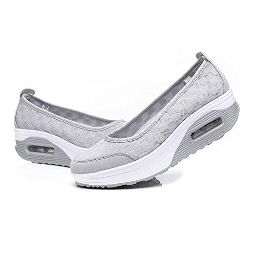 Schuhe Sneaker PE Fitness Grau Damen Frauen Turnschuhe Shake Mädchen Sportschuhe FUW8qp06