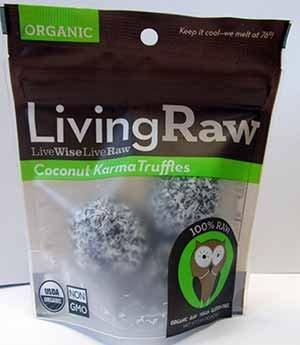 Living Raw Organic Coconut Karma Truffles 1.64 Oz (12 Pack)