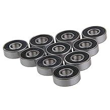 Sodope 608RS 9x22x7mm Steel Rubber Bearings For Skateboard Scooter Roller Skate Long Board Hand Spinner etc