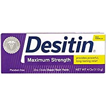 Desitin Maximum Strength Baby Diaper Rash Cream with 40% Zinc Oxide for diaper rash Relief & Prevention, 4 oz
