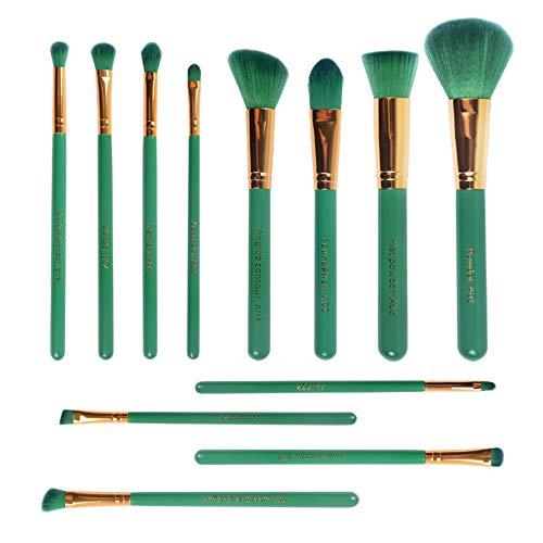 Professional Makeup Brushes 12 Pc Makeup Brush Set, Lovena Premium Synthetic Kabuki Makeup Brushes Foundation Blending Blush Concealer Eye Shadows Face Liquid Powder Cream Cosmetics Brushes Kit