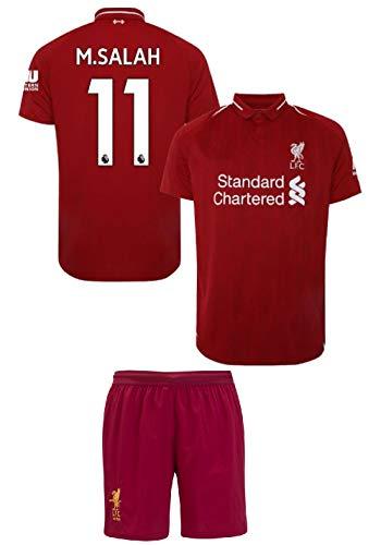 Liverpool Salah  11 Youth Soccer Jersey Home Short Sleeve Kit Shorts Kids  Gift Set ( 5d7597e4a34d8