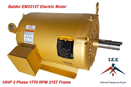 10 Hp 3 Ph Three Phase Electric Motor EM3313T Baldor 1770 RPM 215T Frame ()
