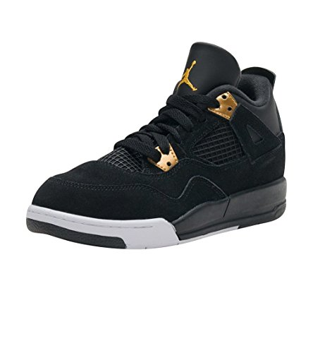 Nike Jordan 4 Retro BP Black/Metallic Gold/White 308499-032 (SIZE: 1.5Y) by Jordan