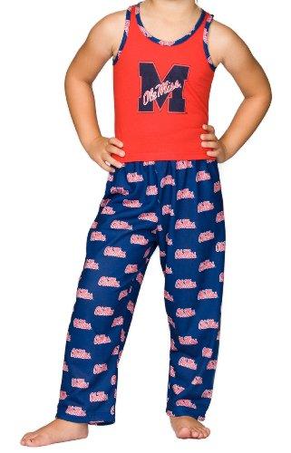 Mississippi OleMiss Rebels Little Girls Capri Pajama Set, Size 6