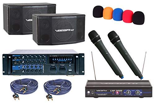 VocoPro Bundle Package-2a Home Karaoke - Dual Speaker Vocopro