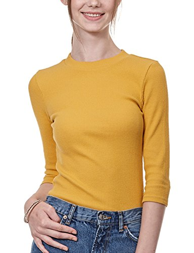 Regna X Love Coated Long Sleeve Yellow Wide Scoop Daily T XL