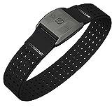 Scosche Rhythm+ Pulse Monitor Armband mit Bluetooth-Funktion I Herzfrequenzmessung I Sportarmband I Fitness Gadget I Wasserdicht & Schweißfest I elegantes Design I für iOS & Android - Schwarz