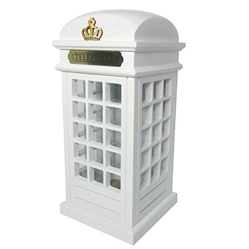 Emperador de gadgets Real Hucha Moneda Ahorro de banco de madera para sobremesa–Vintage Londres Cabina de Teléfono...