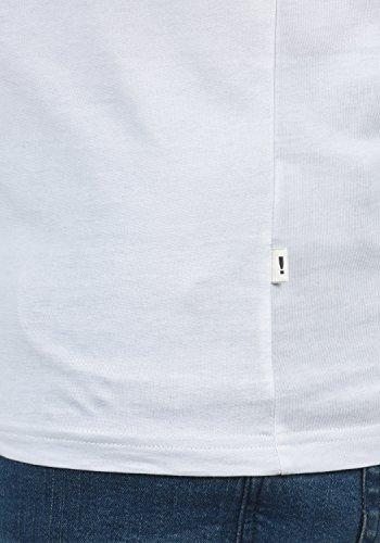 Para Corta Cuello Básica g0001 Redondo Camiseta De T shirt Bastian solid Manga Con White Hombre Grey qHXU8PT