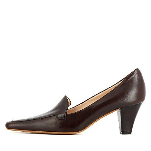 para de Shoes Patrizia mujer de Zapatos oscuro Piel Evita vestir marrón Uq0XXZ
