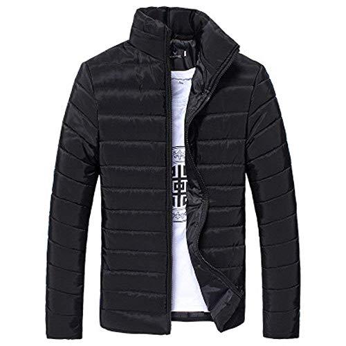Wool Jacket Zip Boiled - KAOKAOO Men Boys Packable Down Jacket Winter Warm Zip Coat Outwear (Black-5X-Large)