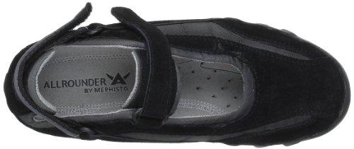 Allrounder by Mephisto NIRO C.SUEDE 1 / FABRIC 52 BLACK - Zapatillas para deportes de exterior de terciopelo para mujer, color negro, talla 36