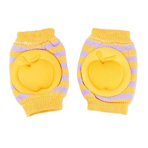 Baby Crawling Knee Pads Cotton Elbow Cushion (Orange) - 7