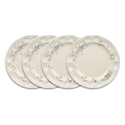 Pfaltzgraff Tea Rose Luncheon Plate (9-Inch, Set of 4) ()