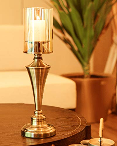 Amayan Clear Glass Cylinder Lampshade-Borosilicate Glass Height 14'' Diameter 4'' - Suitable for Wedding Decoration and Stage Props- Candle - (Multiple Specifications) by Amayan (Image #4)