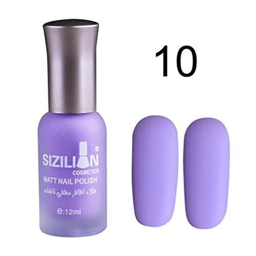 Purple Color Machine (12ml Matte Dull Nail Polish Fast Dry Long Lasting Nail Art Matte Nail Polish Gel (Purple))