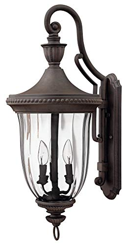 Hinkley 1245MN Traditional Three Light Wall Mount from Oxford collection in Bronze/Darkfinish,