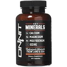 Onnit Key Minerals: Calcium, Magnesium, Molybdenum, and Iodine Supplement (120ct)