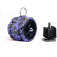 Rover IPX7 Waterproof Bluetooth Speaker with YakAttack Rail Kayak Mount (Purple)