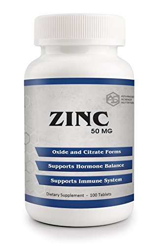 Zinc 50 mg Tablets by Advanced Science Nutrition for Immune Support, Hormone Balance, Post-Exercise Muscle Repair, Healing from Common Cold, Testosterone Support in Men