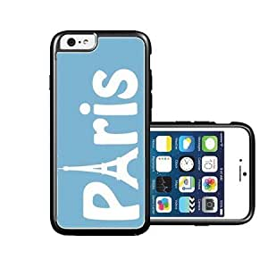 RCGrafix Brand Paris Aqua Plain White iPhone 6 Case - Fits NEW Apple iPhone 6