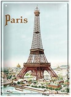 La Tour Eiffel Petite Plaque m/étal 15x21 cm Tour Eiffel Editions Clouet 29142