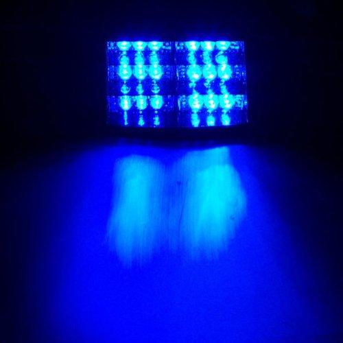Hwydo - Luz estroboscó pica de emergencia de la Policí a de 18 LED, para salpicadero, color azul claro