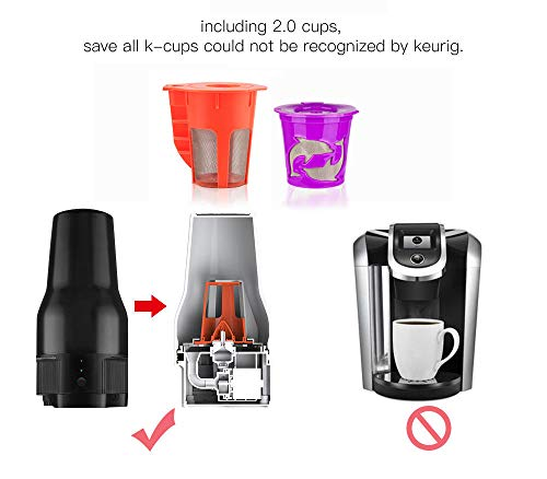 i Cafilas K Mini coffee Maker Portable Espresso Maker Compatible with K pods Automatic Coffee Maker 500ML Stainless Steel Brewer Cup with USB cable by BRBHOM (Image #6)