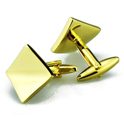 Daesar Copper Cufflinks for Men Cufflinks for Brother Geometric Gold Cuff Links and Studs