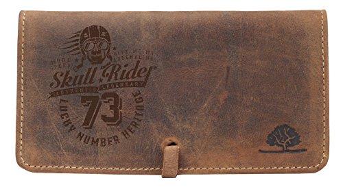 Greenburry Vintage Leder Tabakbeutel Braun 16,5x9x2 cm