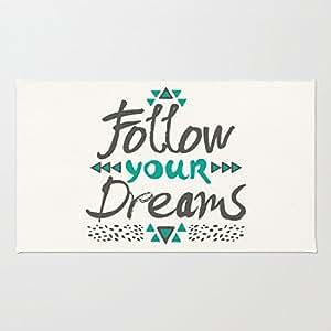 Follow Your Dreams Coral Velvet Doormat, Indoor/Outdoor Floor Mat