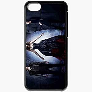 Personalized iPhone 5C Cell phone Case/Cover Skin Vampire diaries season 4 movies tv series Black