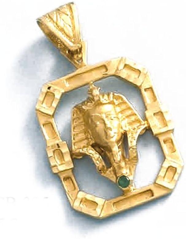 LIOR - Colgante Oro 18k (750) Tutankamon -5.7gr: Amazon.es: Joyería