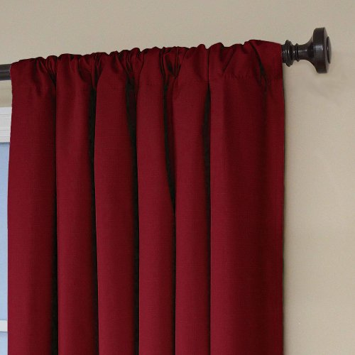 Eclipse Kendall Blackout Window Curtain Panel Ruby 106.7cm x 160cm