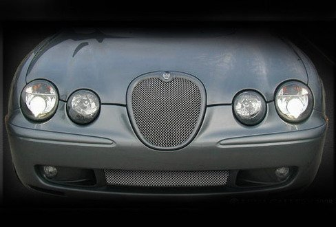 Lower Bumper Mesh Grille Finisher Overlay for Jaguar S-Type R -