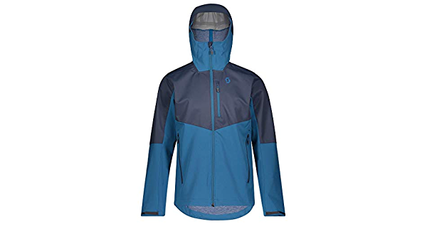 Scott Explorair 3L Jacket Blue Nights//Lime Yellow, Medium Mens 2020