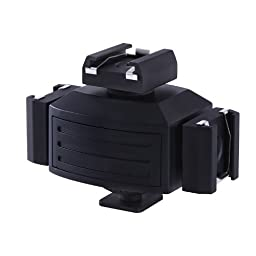 Movo Photo HVA30 Video Accessory Triple Shoe Bracket for Lights, Monitors, Microphones and More