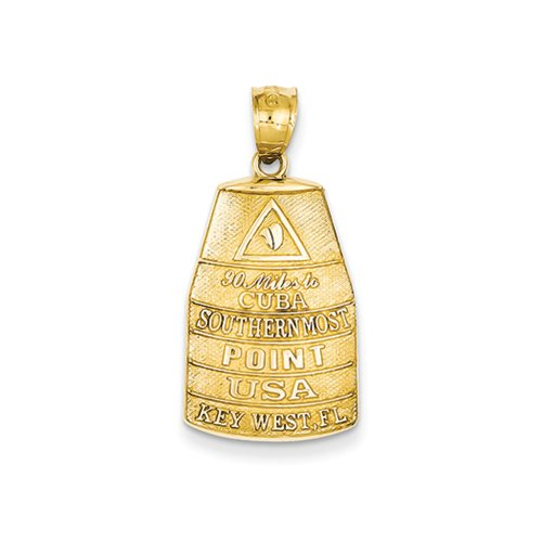 14k Yellow Gold Southern Most Point USA Key West Buoy (Florida Southern Pendant)