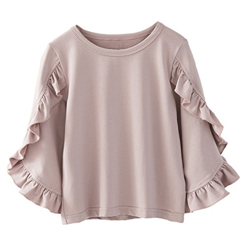 Colorful Childhood Little Girls Ruffle Bat T Shirt Autumn Princess Girl Blouses...