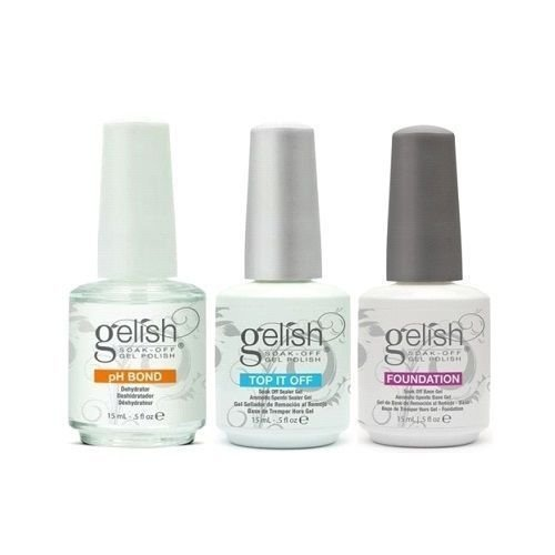 Gelish Terrific Trio Essentials Collection Soak Off Gel Nail Polish Kit, 15 mL HMYG0010
