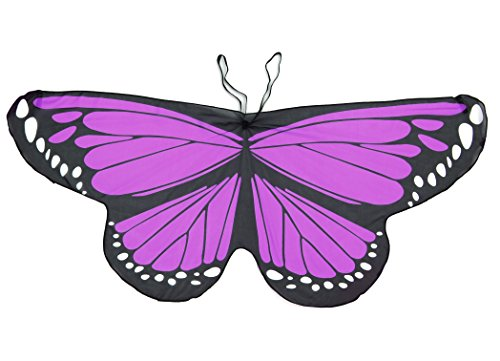 [Monarch Butterfly Wings Costume For Halloween Party purple] (Purple Butterfly Wings Costumes)