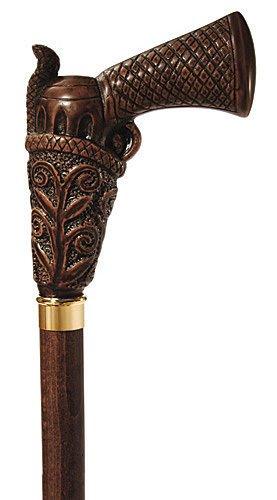 Canes - ''Wild West'' Walking Stick - Gun Handle Cane