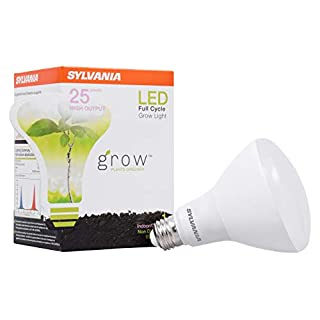 SYLVANIA General Lighting 40071 BR30 Ultra, Frosted Finish, 18 Watts LED Grow Lamp