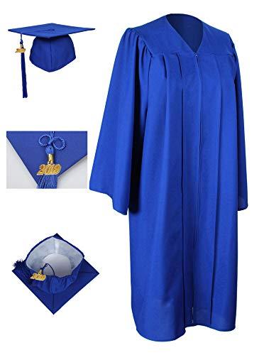 GraduationForYou Unisex Adult Matte Graduation Gown Cap With Tassel 2019 -