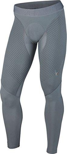 Nike Pro Zonal Strength Men's Training Tights Grey - Metallic Grey - Small (Nike Pro Zonal Strength Mens Training Tights)