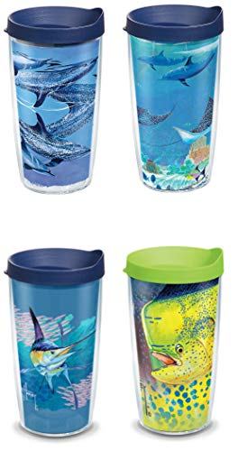 Tervis 16 Ounces Double Wall Tumblers, Set of 4 (Guy Harvey)
