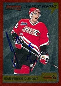 Jean-Pierre Dumont autographed Hockey Card (Val d'Or Foreurs) 1996 Bowman Prospect #P13 - Autographed Hockey Cards