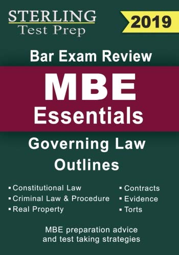 Mbe Review Flash Cards - Sterling Test Prep Bar Exam Review MBE Essentials: Governing Law Outlines