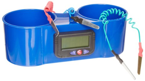 "American Educational Blue Plastic Two Potato Clock, 8-1/2"" Length x 3-1/2"" Width x 2-3/4"" Height"